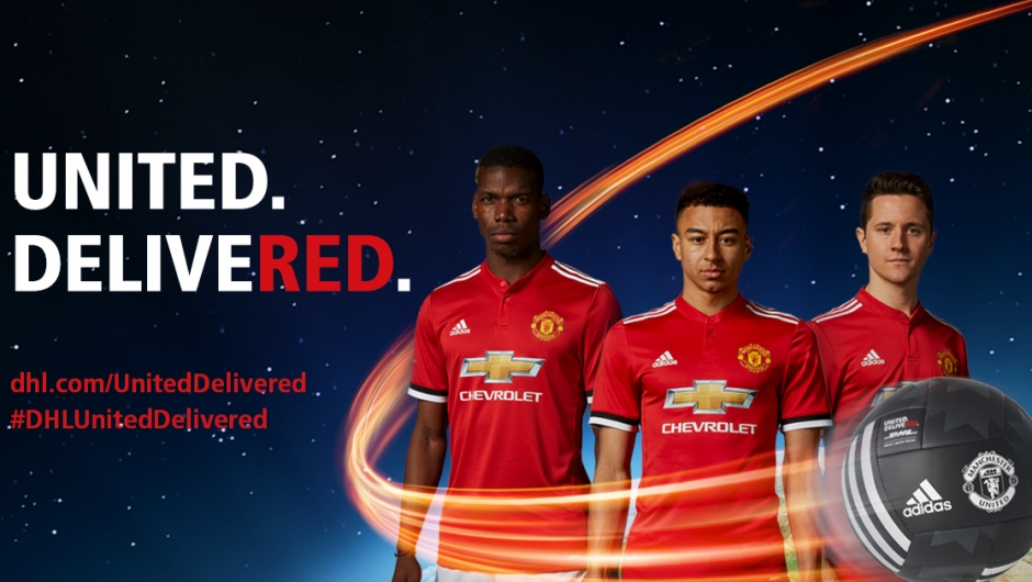 6ed51b7512f united. delivered.  dhl delivers manchester united to fans around