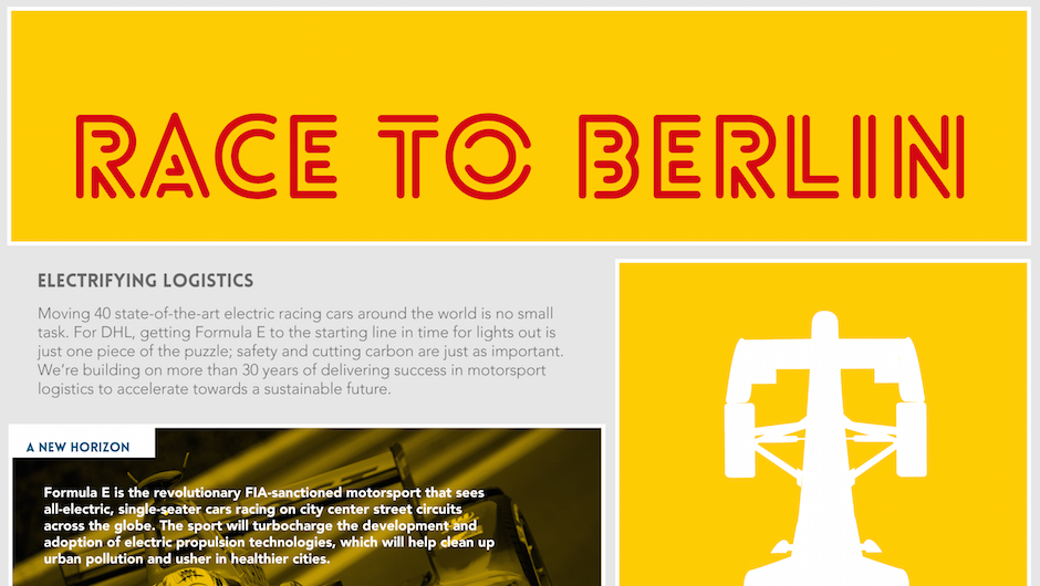 electrifying logistics in the race to berlin dhl inmotion. Black Bedroom Furniture Sets. Home Design Ideas